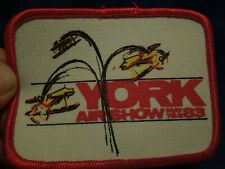 York Airshow May 1983 Patch Aerial Acrobatics Aerobatics 3 by 4 Inches