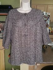 Womens Dress Barn Cardigan Sweater-Multi Color-Size 14-16-3/4 Length Sleeves
