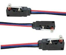 5 x Microswitch IMPERMEABILE cablato leva CON ROTELLA finecorsa SPDT 250V 10A