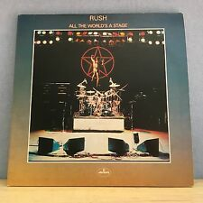 RUSH All The World's A Stage 1976 UK double vinyl LP EXCELLENT CONDITION origina
