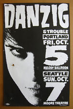 DANZIG Portland/Seattle 1990 US ORG CONCERT POSTER Glenn MISFITS VG condition