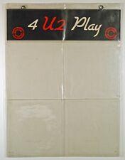 U2. 4 U2 PLAY. ORIGINAL PVC WALLET. WALLET ONLY, NO RECORDS. B.