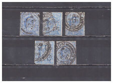 Great Britain Perfins #131 or #148 used collection of 5