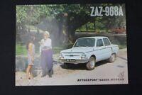 altes Prospekt Werbung ZAZ 968A Sammler old vintage retro