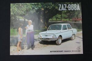 Old Brochure Advertising Zaz 968A Collector Old Vintage Retro