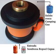 ADAPTADOR DE GAS BOMBONA BUTANO REPSOL-CEPSA A CAMPING GAZ (para campingas azul)