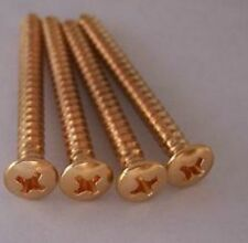 GENUINE FENDER GOLD Neck Plate Screws Tele Strat Bass Made in USA Vintage Style