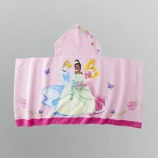 Disney Princess Cinderella Tiana Sleeping Beauty Hooded Towel Pancho NEW!