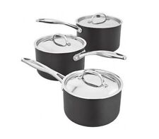 New Stellar 6000 3 Piece Anodised Induction Pan Set S6A1