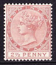 Dominica 1884 QV 2½d red-brown, fine mint cv £140