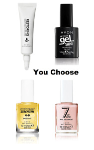AVON Nail Care, Cuticle Cream, 7 in 1, Top Coat, Base Coat, You choose, With Box