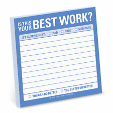 Knock Knock Is This Your Best Work - Sticky Note