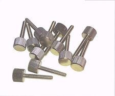 12x vis moletée m4x25 laiton nickelés vis boulon m4 x 25 DIN
