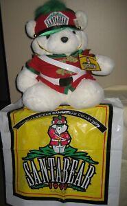 1997 Dayton Hudson Santa Bear Nutcracker Drum Major with tag and bag