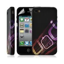 Housse coque étui en gel pour Apple Iphone 4/4S avec motif + Film protecteur