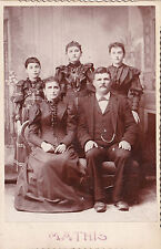 """Vintage (turn of 20th Century) Mathis family  photo aprox 4 x 6"""""""