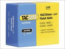 Tacwise - 16 Gauge Straight Finish Nails 40mm Pack 2500