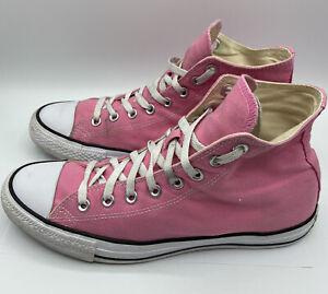 CONVERSE ALL STAR CHUCK TAYLOR Sneakers Men's Sz. 9 Women's 11 High Top Pink