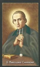 Estampa reliquia del Beato Champagnat andachtsbild santino holy card santini