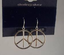 Sterling Silver Peace earrings Jewelry Icing Earring