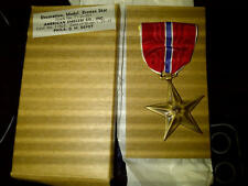 Orig WW2 Bronze Star Medal Decoration in Orig AE Co QM 1945 dated Box MINT!