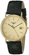 Longines La Grande Classique Black Leather Men Watch L47202322 / L48192322 New