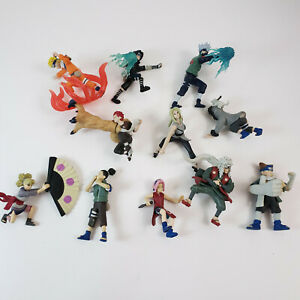Lot of 11 2002 Naruto Figures Mattel - Rare Vintage Miniatures Anime
