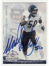 MIKE SINGLETARY CHICAGO BEARS BAYLOR UNIVERSITY  AUTOGRAPHED CARD THRU THE MAIL