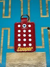 Vintage Cooper Mini Blocker Goalie Key Chain Calgary Flames