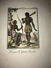 AFRIQUE. GUINÉE. LES ANZIKOS ET LES JAGGAS. DEUX GRAVURES EN COULEURS DE 1805