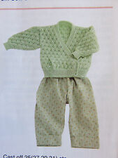 baby knittingnewborn to 6 months  pattern cardigan 3 ply