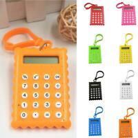 Plastic 8 Digits Electronic Mini Calculator Keychain School Office Supplies