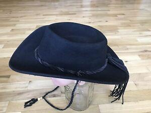 Shady Brady Black Wool Western Cowboy Hat Size: L Made in USA
