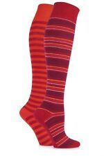 Machine Washable Striped Knee-High Socks for Women