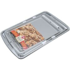 Non Stick Cookie Sheets 3 Pc Baking Pan Sheet Wilton