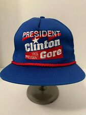 BILL CLINTON AL GORE Presidential ELECTION Night Red ROPE Snapback Hat 11/3/1992