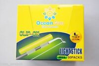 100 X Chemical Light Fishing Fluorescent Glow Stick Clip L SIZE On the Rod Tip