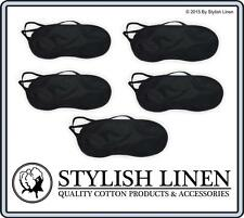 Travel Eye Mask Sleep Sleeping Soft Blindfold Cover Rest Eyepatch New Black x 5