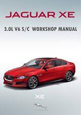 2015-2018 Jaguar XE 3.0L V6 S/C sobrealimentados 35t Taller reparación Manual RWD AWD