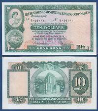 HONGKONG / HONG KONG  10 Dollars 1979 UNC  P. 182 h