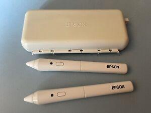 Epson ELPPN02 Epson Interactive Whiteboard IWB Projector Pen X2 And Case