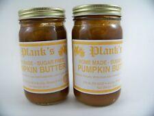 Planks Sugar Free Pumpkin Butter Spread Amish Country 8.5 OZ ea (2Jars)