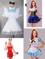 Sexy Girls Black ALICE IN WONDERLAND DRESS Halloween COSTUME SZ S-6XL Cosplay RR