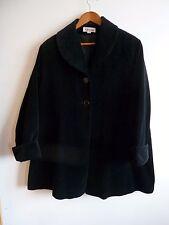 KALEIDOSCOPE Black Velvet Swing A Line Coat EU 40/42  UK 10/12