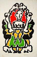 """""""Le Dieu Lare"""" 1952, lithographie de LAPICQUE Charles"""
