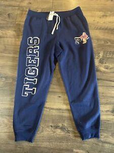 🔥$168 New Size XXL Polo Ralph Lauren Tigers Sweatpants Joggers Fleece Navy