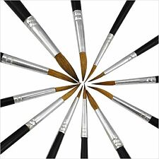 Pack of 12 Artist Pointed Paint Brushes Set Small & Large Sizes Thin & Thick