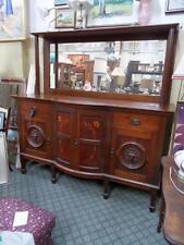 Lrg Antique Australian Blackwood Marquetry Sideboard Buffet Cabinet Art Nouveau