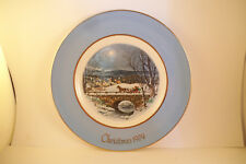 Vintage Christmas Collector Plate Avon Wedgwood Dashing Through the Snow 1979