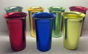7 COLOR ZEPHYR WARE ALUMINUM TUMBLERS DRINKING CUPS
